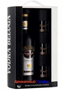 фото: Наборы алкоголя Beluga Noble в п/у (кожа, сет)