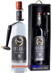 фото: Наборы алкоголя Beluga Gold Line в кожаной п/у